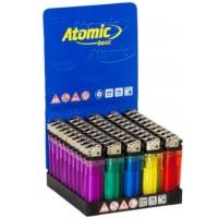 Accendini atomic colorati pietrina 1 box da 50 accendini
