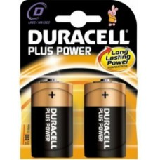 Batteria duracell plus power torcia d 1 box da 10 blister 20 batterie