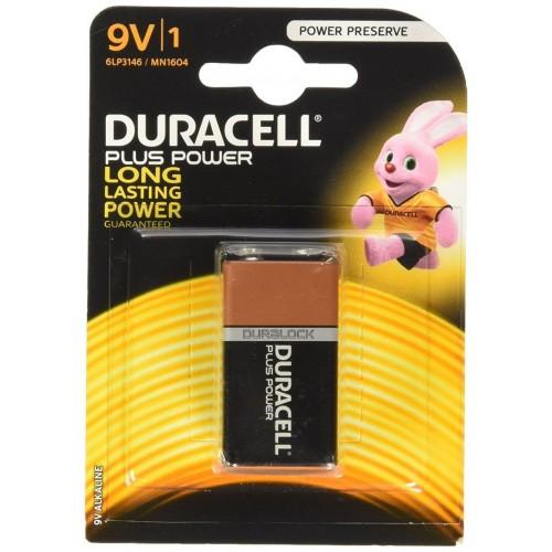 Batteria duracell plus power transistor 9v 1 box 10 blister 10 batterie