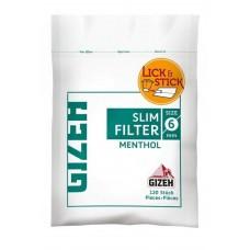 Filtri gizeh slim 6 mm al mentolo 1 bustina da 120 filtri