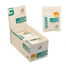 Filtri gizeh slim 6 mm al mentolo 1 box 10 bustine da 120 filtri