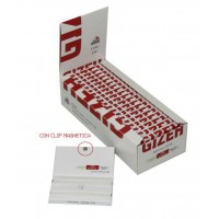 Cartine gizeh magnetic doppie rosse corte 1 box 20 libretti 2000 cartine