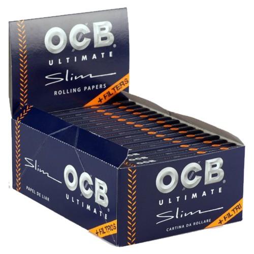 Ocb combi pack ultimate cartine king size slim + filtri in carta 32 pz.