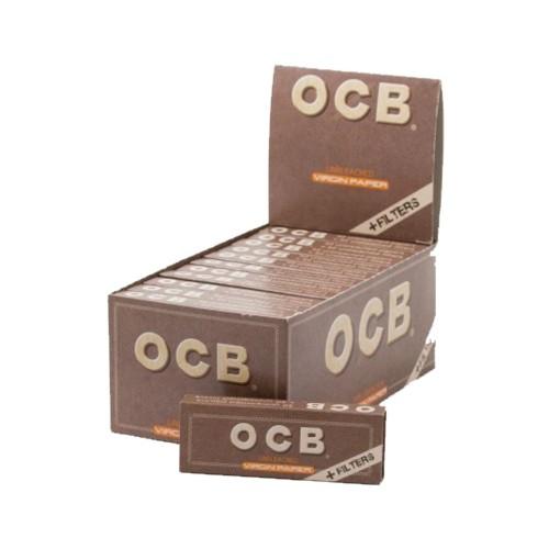 Ocb combi pack virgin brown cartine corte + filtri in carta 24 pz.