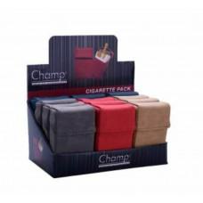 Champ portasigarette copri pacchetto in pelle tinta unita 1 pz.