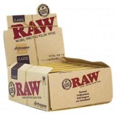 Cartina raw artesano classic king size slim 1 box 15 libretti 480 cartine