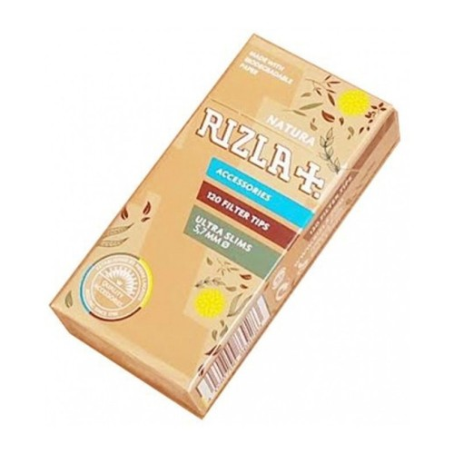 Filtri rizla natura 5,7 mm ultra slim in scatolo 1 scatolino da 120 filtri
