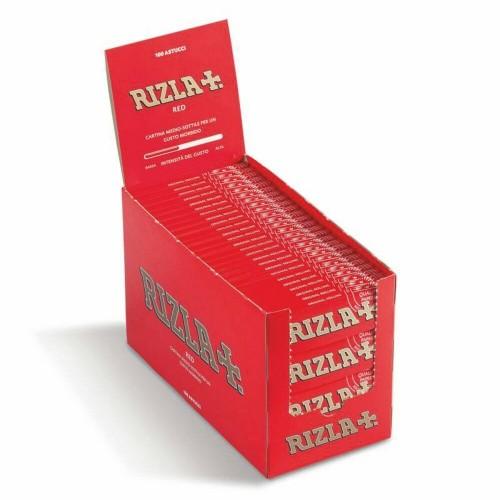 Cartine rizla rosse corte 1 box 100 libretti 5000 cartine